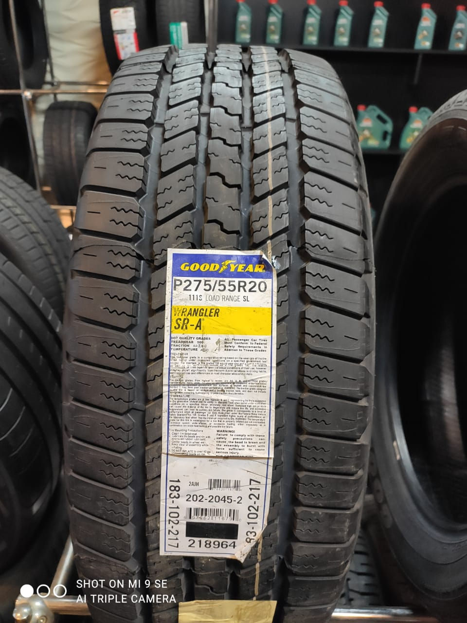 Good Year Wrangler SR-A 275/55R20