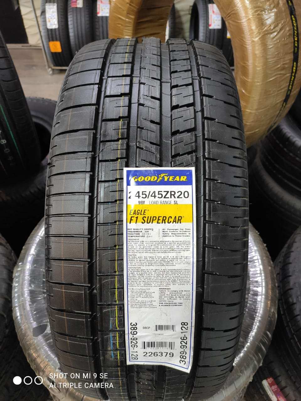 Good Year Eagle F1 SuperCar 245/45R20